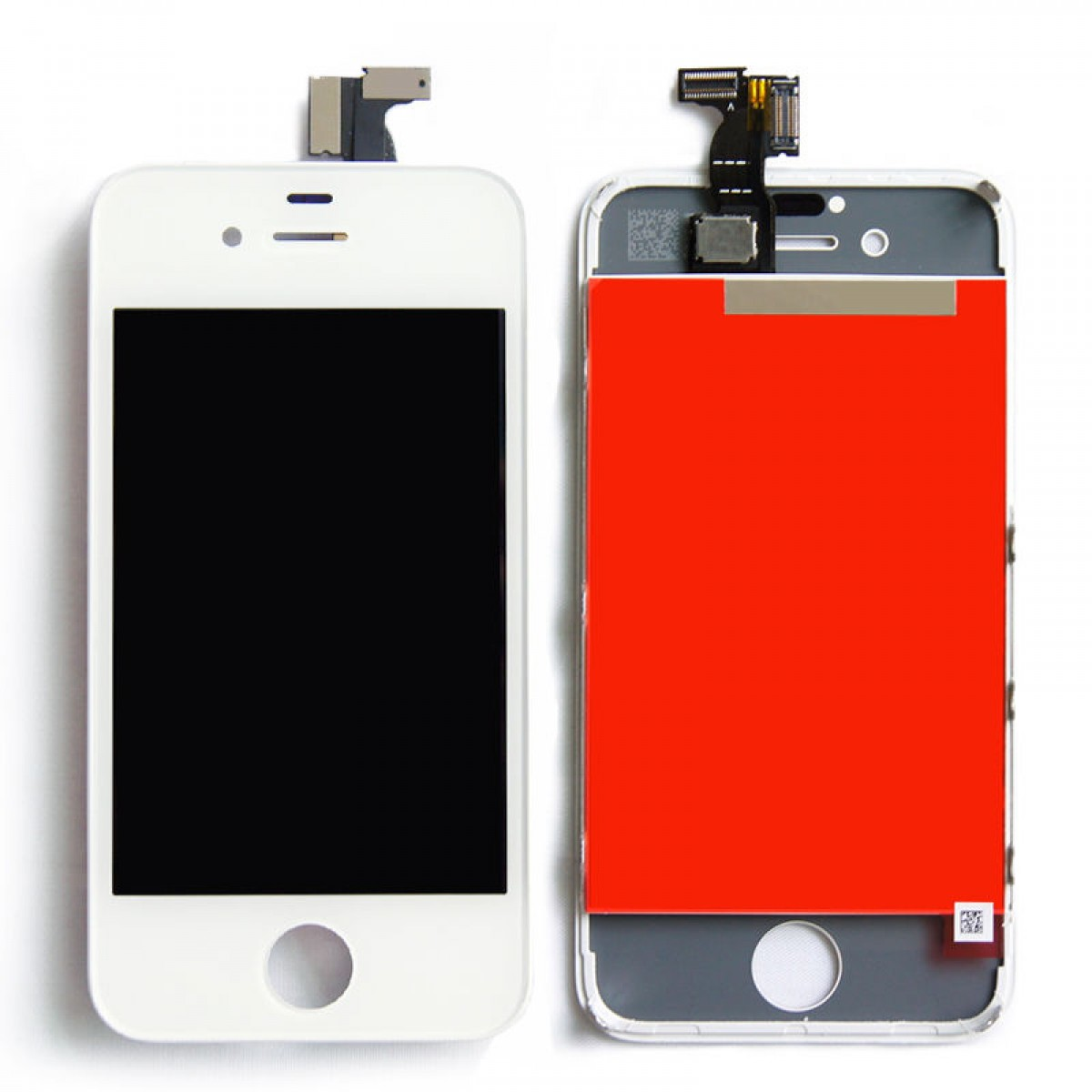 For iPhone 4 - Replacement LCD Digitizer Assembly - OEM - White